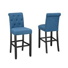 See Details - Tinga 29'' Barstool W/blue Fabric (bar Stool Set of 2 )
