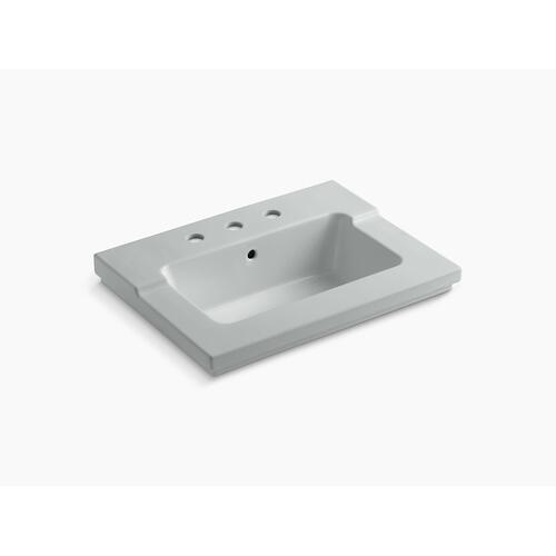 "Ice Grey Vanity-top Bathroom Sink With 8"" Widespread Faucet Holes"