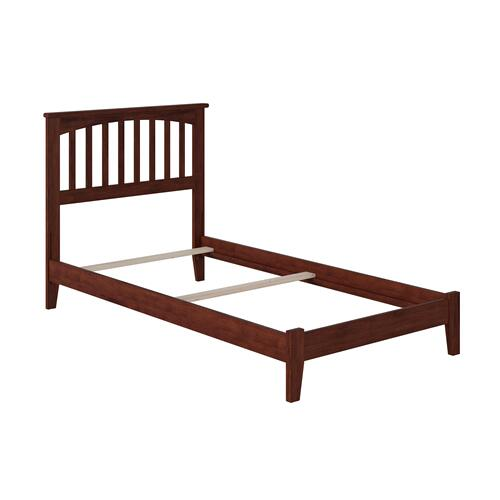 Mission Twin XL Bed in Walnut