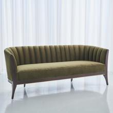 See Details - Channel Back Sofa-Moss Velvet