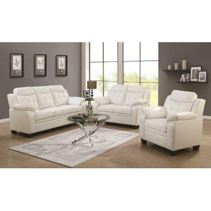 See Details - Finley Casual White Three-piece Living Room Set