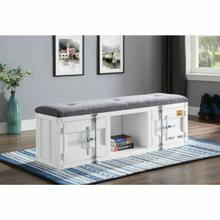 ACME Cargo Bench (Storage) - 35912 - Gray Fabric & White