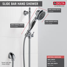 Chrome Premium 3-Setting Slide Bar Hand Shower
