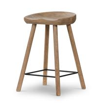 Counter Size Natural Matte Finish Barrett Bar + Counter Stool
