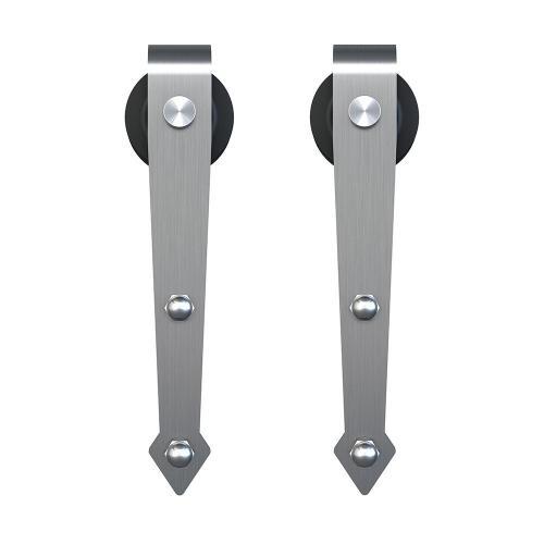 Schlage - Sliding Barn Door Hardware - 8' Decorative Strap - Satin Stainless Steel