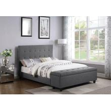 Halpert Transitional Light Grey Full Bed