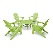 Lime South Beach 5-Piece Conversation Group