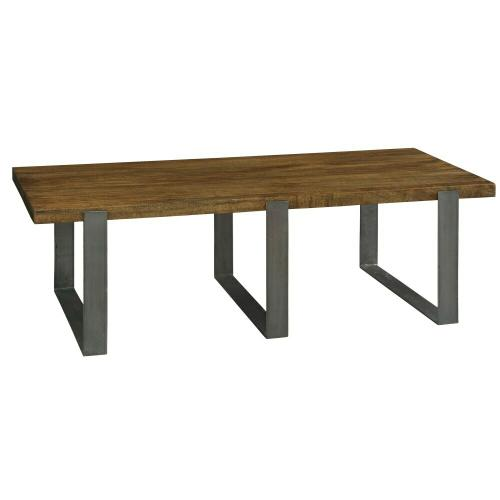 2-3700 Bedford Park Iron Strapping Rectangular Coffee Table