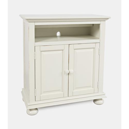 Stately Manor Power Accent Chest - Ant. White