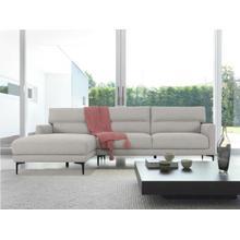 View Product - Divani Casa Paraiso - Modern Grey Fabric Left Facing Sectional Sofa