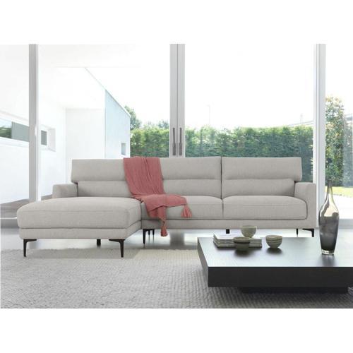 VIG Furniture - Divani Casa Paraiso - Modern Grey Fabric Left Facing Sectional Sofa