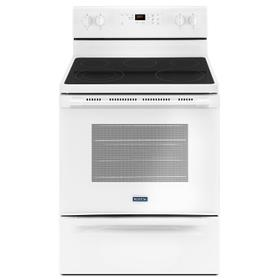 30-Inch Wide Electric Range With Shatter-Resistant Cooktop - 5.3 Cu. Ft. White