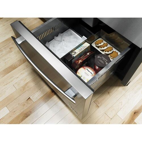 "Euro-Style 24"" Refrigerator/Freezer Drawers Stainless Steel"