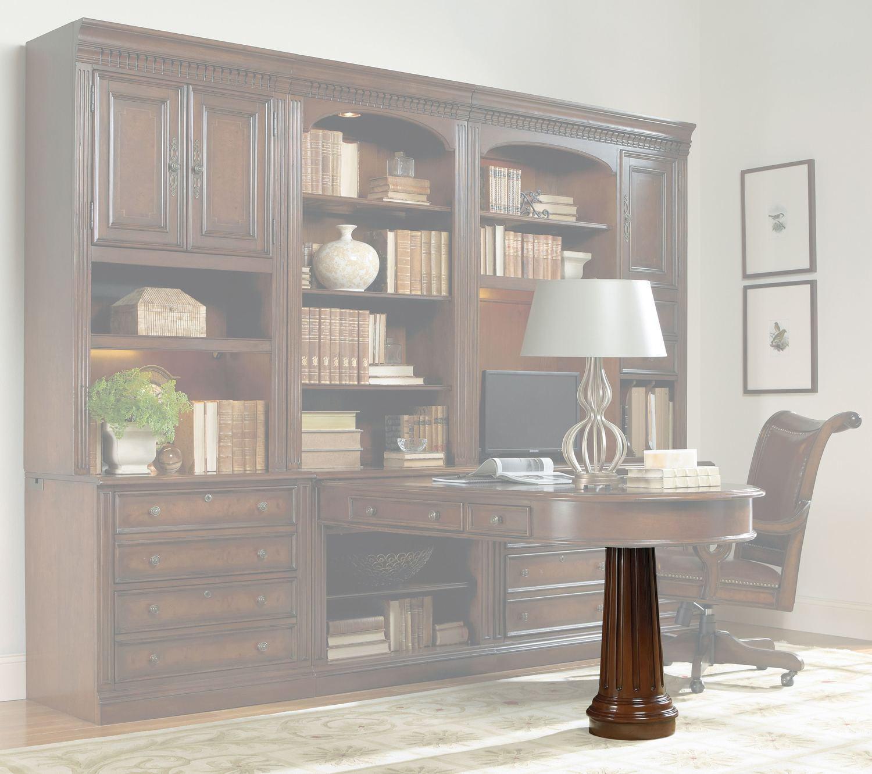 Hooker FurnitureHome Office European Renaissance Ii Peninsula Desk Pedestal