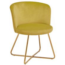 Alexa Velvet Upholstered Dining Chair, Yellow