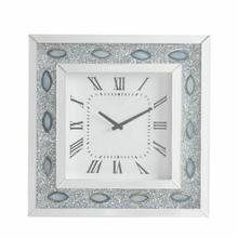 ACME Sonia Wall Clock - 97047 - Mirrored & Faux Agate