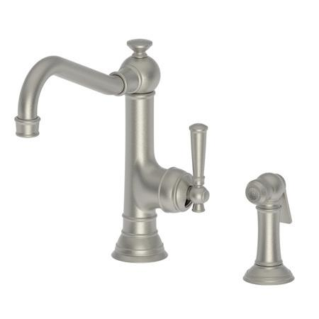 Gun Metal Single Handle Kitchen Faucet with Side Spray