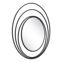 See Details - Luna Round Mirror Black