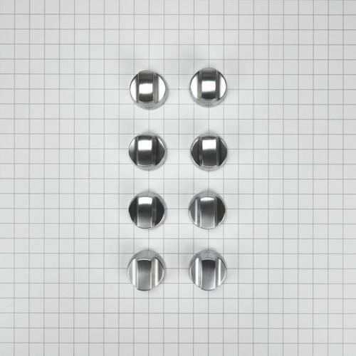 KitchenAid - Cooktop Burner Control Knob Kit, Stainless Steel - Other