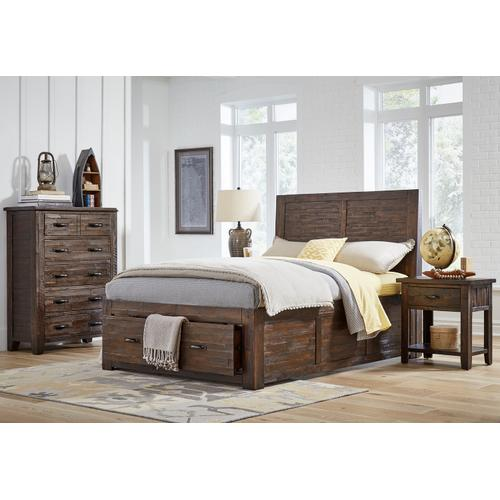 Jackson Lodge King Footboard With 2 Drawers and Slats