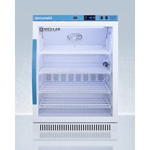 Performance Series Med-lab 6 CU.FT. Freestanding Glass Door ADA Height All-refrigerator, With Antimicrobial Silver Ion Handle