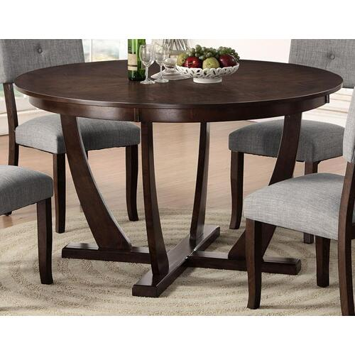 "Elantra Pedestal 54"" Round Dining Table"
