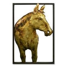 Golden Stallion II 16x24 Suspended Metal Wall Art