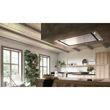 "36"" X 19"" ceiling mount stainless steel island hood"