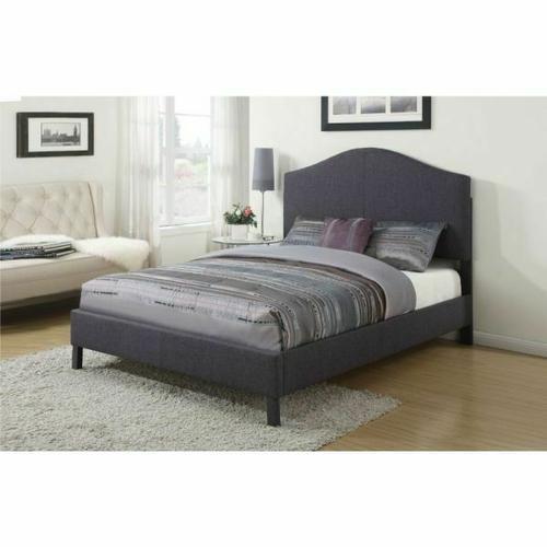 ACME Clyde Eastern King Bed - 25007EK - Gray Linen