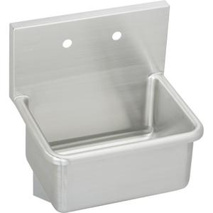 "Elkay Stainless Steel 21"" x 17-1/2"" x 12, Wall Hung Service Sink Product Image"