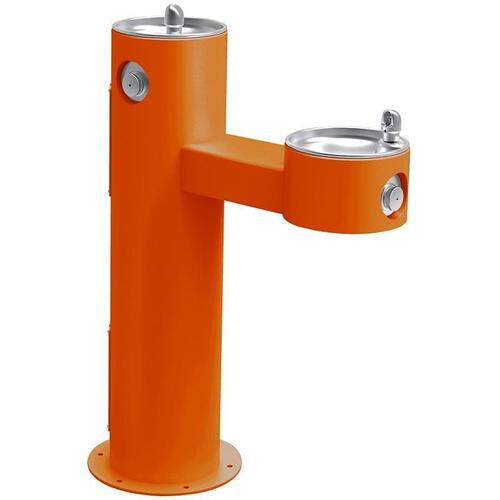 Elkay - Elkay Outdoor Fountain Bi-Level Pedestal Non-Filtered, Non-Refrigerated Orange