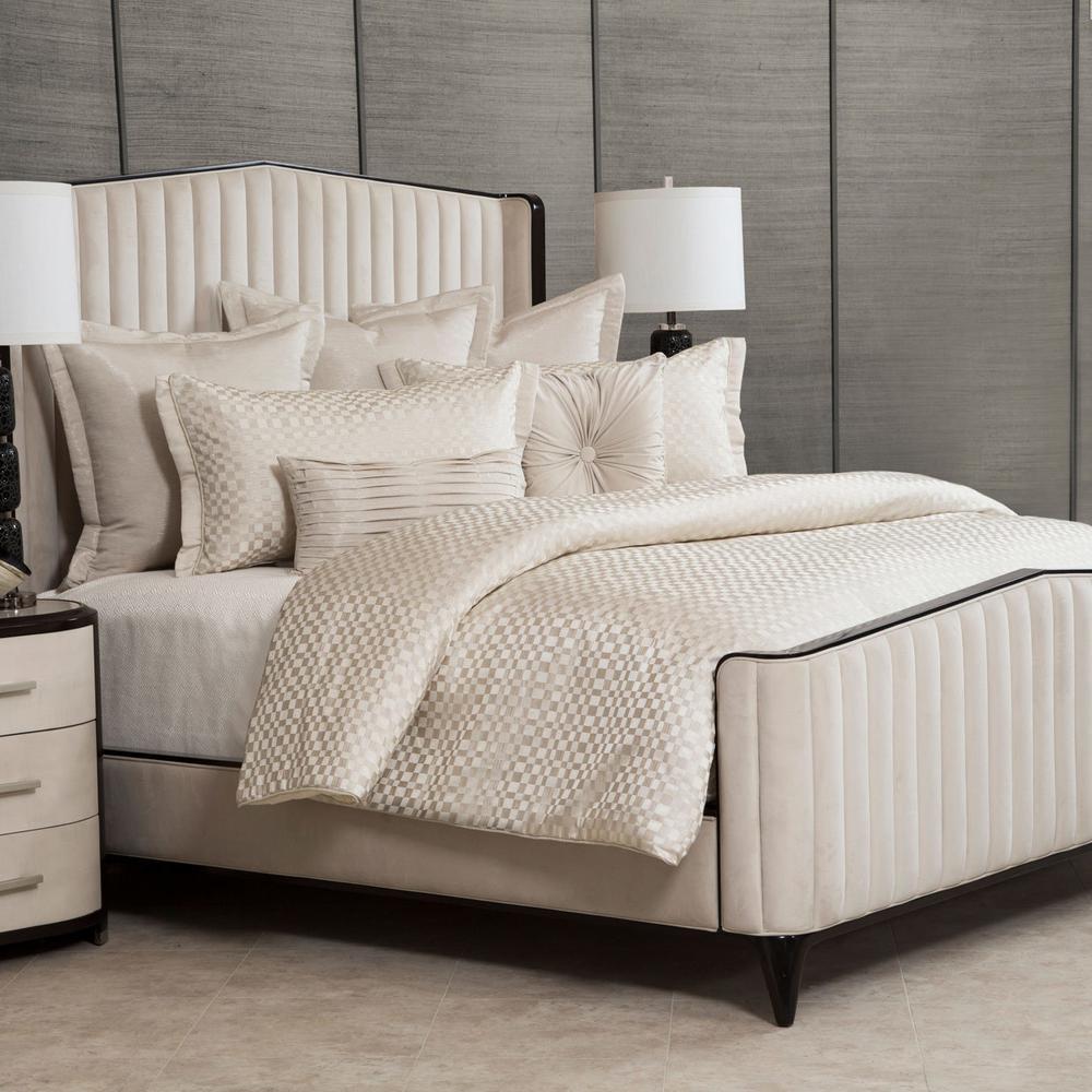 7pc Queen Comforter Set Pearl