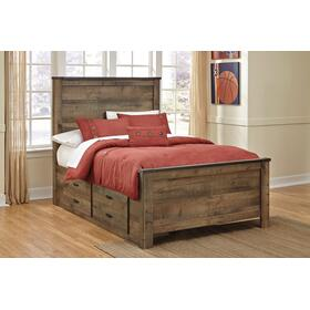 Trinell Full Bed W/Under Bed Storage Brown