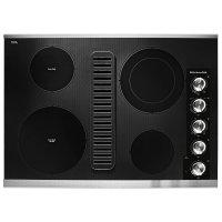 "30"" Electric Downdraft Cooktop with 4 Elements Stainless Steel"