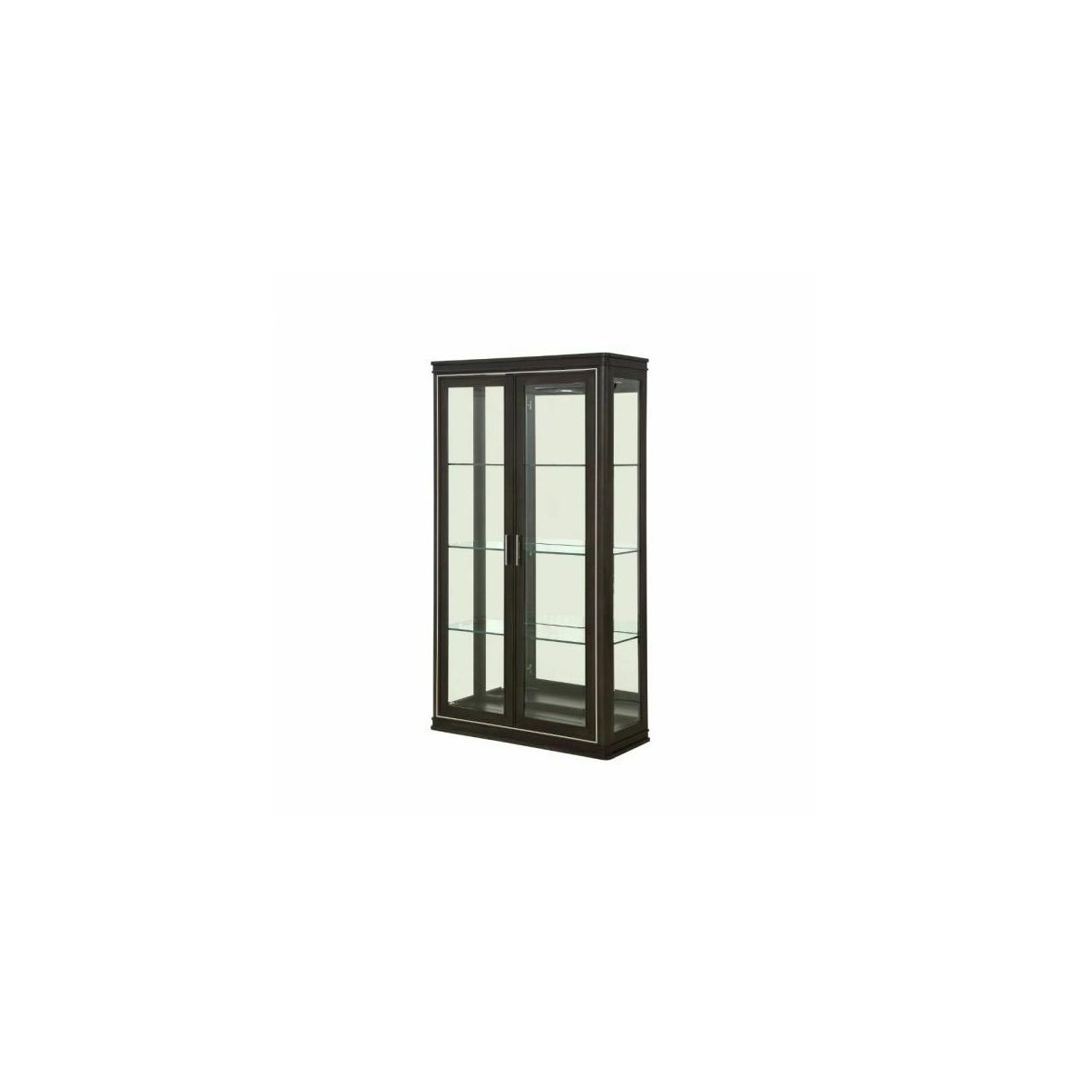 ACME Lorenzo Curio - 68096 - Transitional - Glass, Mirror, Wood (Poplar), Wood Veneer (Cherry), Ply, PB - Espresso