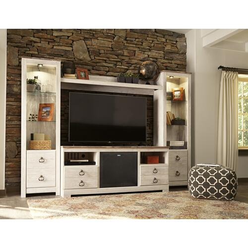 Willowton 4 Piece Entertainment Set Whitewash