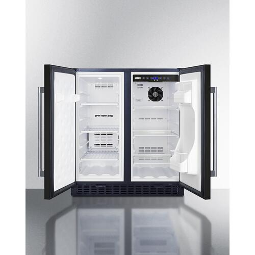 """Summit - 30"""" Wide Built-in Refrigerator-freezer"""
