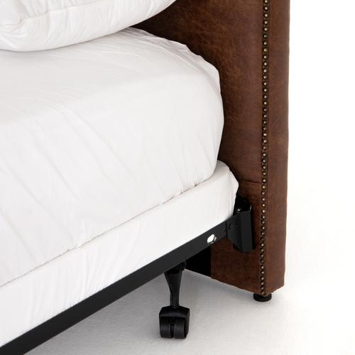 Queen Size Vintage Tobacco Cover Surry Curved Headboard