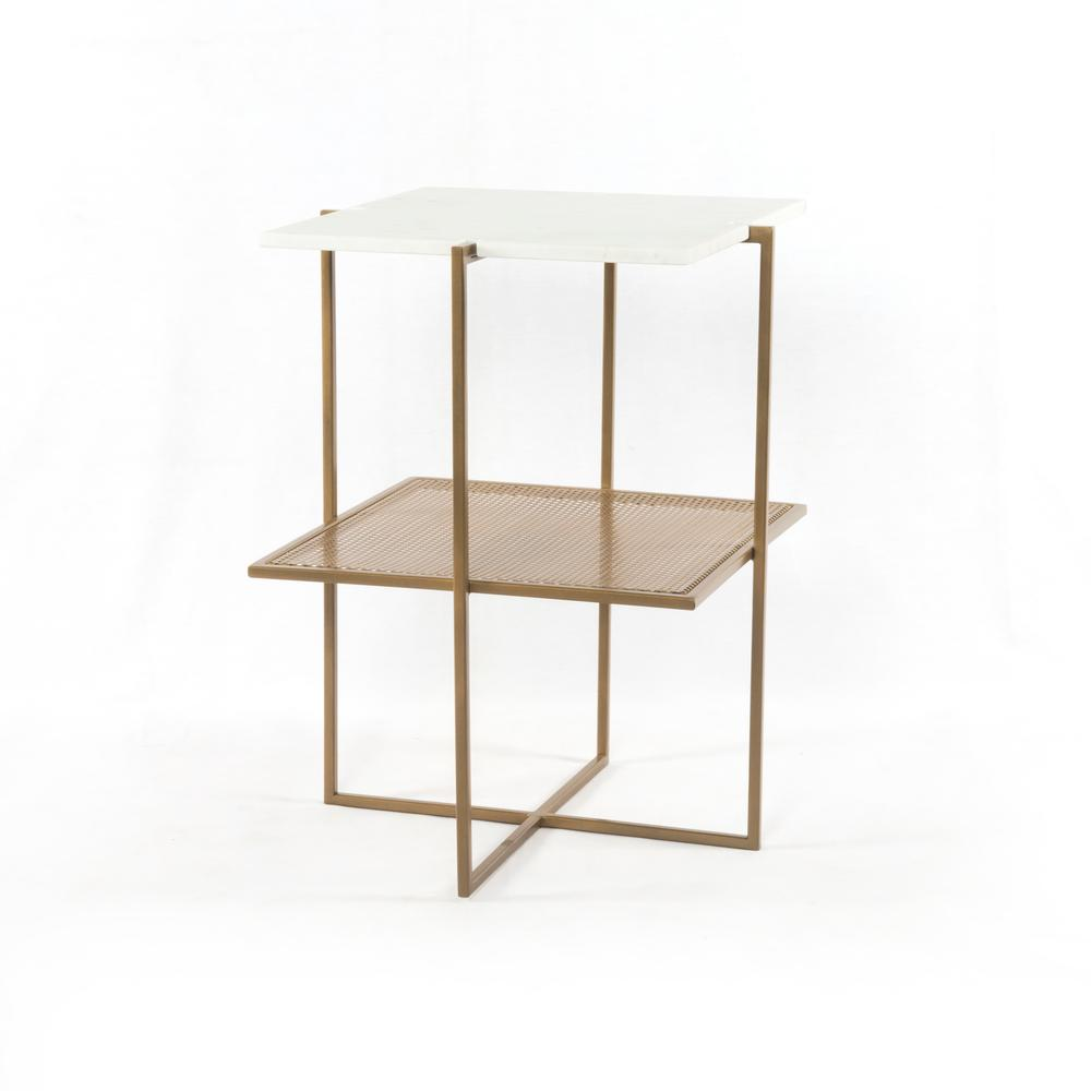 Olivia Nightstand-antique Brass