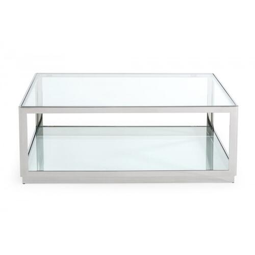 VIG Furniture - Modrest Weller - Modern Stainless Steel Coffee Table