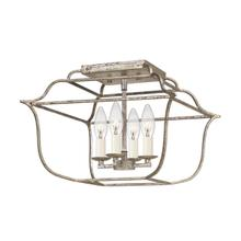 View Product - Gallery Semi-Flush Mount in Century Silver Leaf