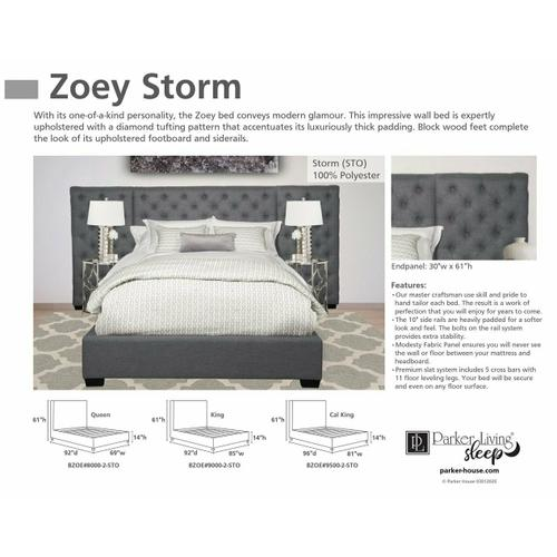 ZOEY - STORM Queen Footboard and Rails 5/0