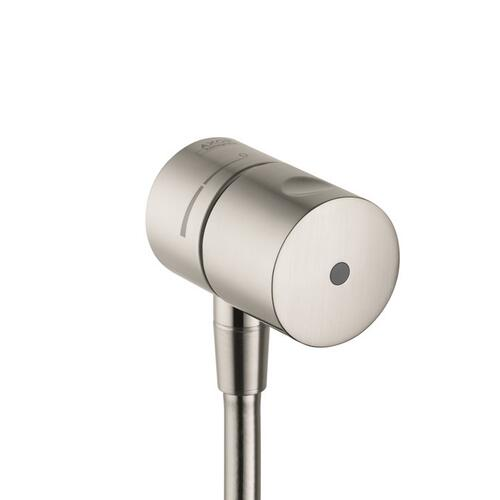 Brushed Nickel Wall outlet stop with shut-off valve
