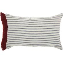 "Life Styles Dr152 Red/white 14"" X 22"" Throw Pillow"