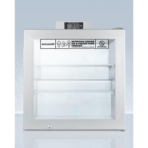 Summit - Commercially Approved Nutrition Center Series Compact Glass Door All-freezer With Front Lock and Nist Calibrated Digital Temperature Display