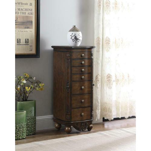 Gallery - Traditional Brown Red Jewelry Armoire