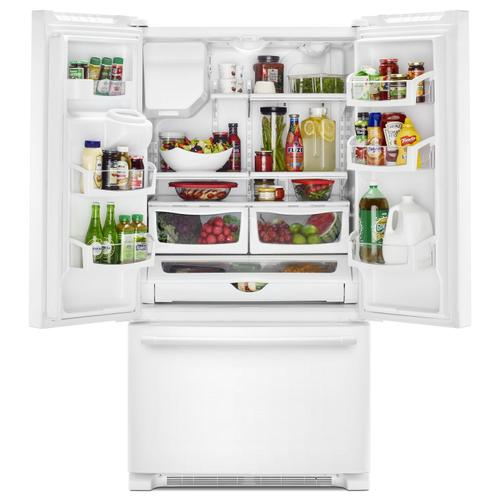 Gallery - 36- Inch Wide French Door Refrigerator with PowerCold® Feature - 25 Cu. Ft. White