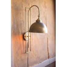 See Details - metal wall light with antique brass finish