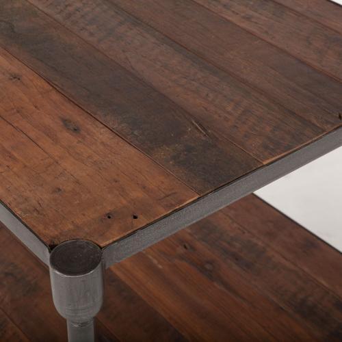 """Industrial Teak 22"""" Side Table"""