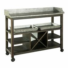 2-7879 Metal Console/Serving Cart
